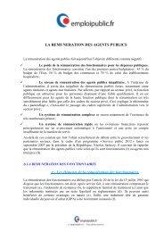 La rémunération des agents publics - Emploipublic.fr