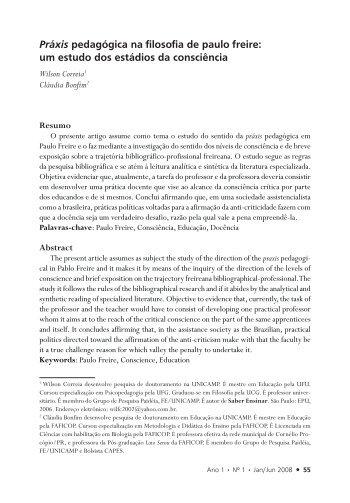 Práxis pedagógica na filosofia de Paulo Freire