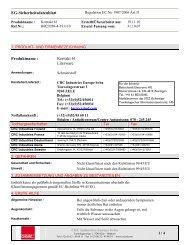 Sicherheitsdatenblatt - Buttschardt Electronic AG