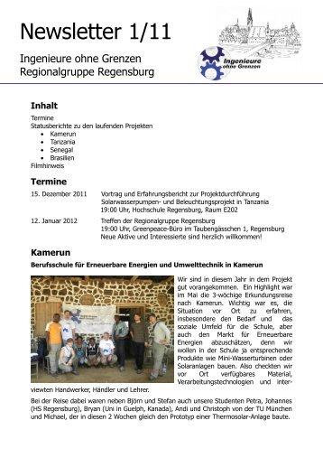 Newsletter 1/11 - Ingenieure ohne Grenzen