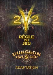 Règles 2v2 - Dungeon Twister