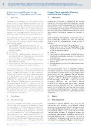 Anforderungen der Hygiene bei der Reinigung und Desinfektion von ...