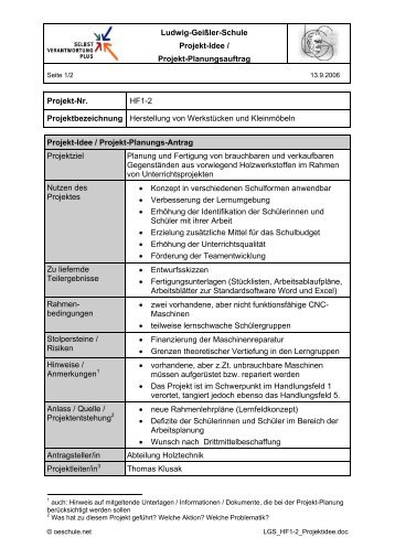 Projektidee - Willkommen auf dem Materialienserver der Ludwig ...