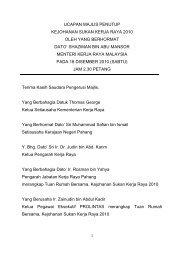 ucapan perasmian pembukaan - Kementerian Kerja Raya Malaysia
