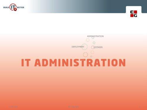 DEPLOYMENT ADMINISTRATION LICENSER