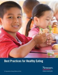 Best Practices for Healthy Eating Guide - Nemours
