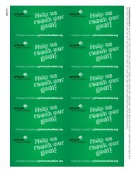GS Cookies - Cookie Team Business Cards - Girl Scouts of the USA
