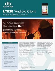 LTE25 Android Client Application - Etherstack