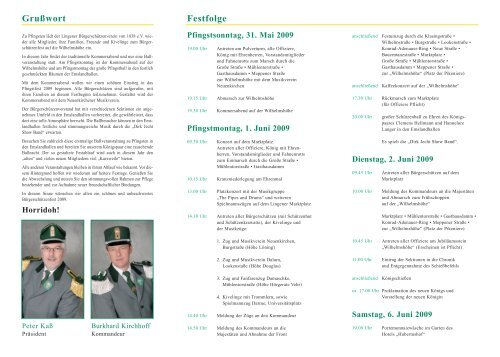 Grußwort Festfolge - Lingener Bürgerschützenverein