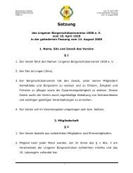 Satzung - Lingener Bürgerschützenverein