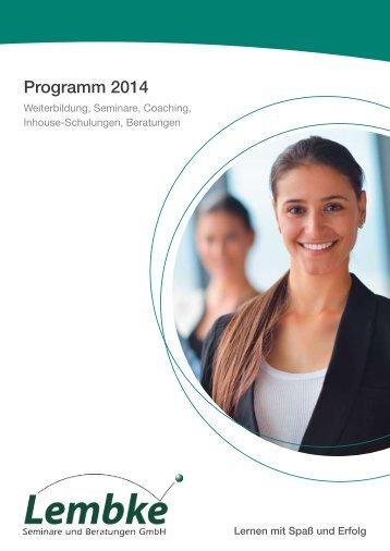 Programm 2014 - Lembke-Seminare