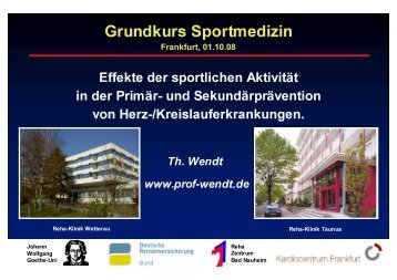 Grundkurs Sportmedizin - Prof. Wendt