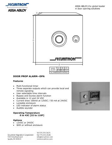 two door interlock key overide wiring diagram securitron door prop alarm dpa securitron magnalock corporation