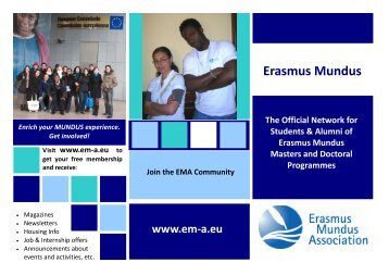 EMA flyer - Erasmus Mundus Students and Alumni Association