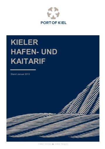 Hafentarif 2013 - Port of Kiel