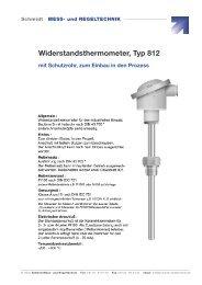 Widerstandsthermometer, Typ 812 - Schmidt - Mess- und Regeltechnik