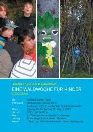 EINE WALDWOCHE FÜR KINDER - Karin Bergdolt