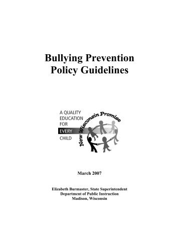 Bullying Prevention Policy Guidelines - Student Services ...