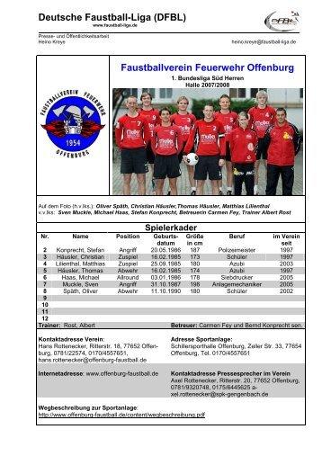Deutsche Faustball-Liga (DFBL) Faustballverein Feuerwehr Offenburg