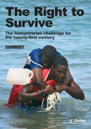 Right to Survive (summary, English) - Oxfam International