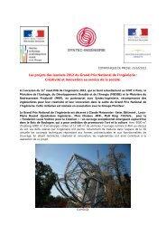 Les projets des lauréats 2012 du Grand Prix National de l ... - Dgcis
