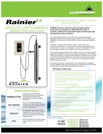RAINIER 6.0 series - SALAM Enterprises