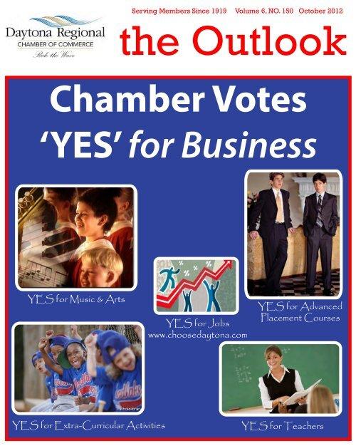 October 2012 newsletter 2 - Daytona Beach Chamber of Commerce