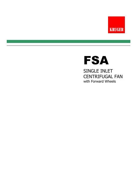 FSA Catalogue - Kruger Ventilation