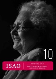 jaarverslag 2010 - Internationale Stichting Alzheimer Onderzoek