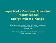 Impacts of a Customer Education Program Model - National Energy ...
