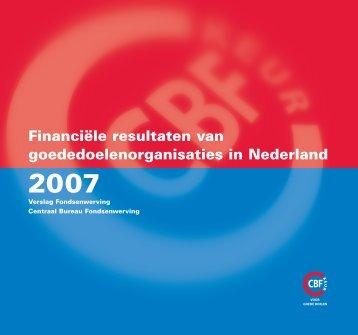 Financiële resultaten van goededoelenorganisaties in ... - CBF