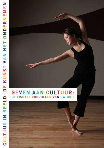 Geven aan cultuur - CBF