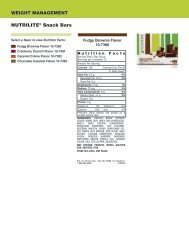 WEIGHT MANAGEMENT NUTRILITE® Snack Bars - Amway