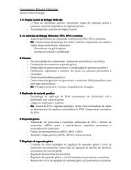 Componente Biologia Molecular - Biologia Molecular e Genética