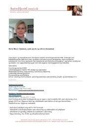 Dorte Høyer Adamsen - AndersHjorthConsult