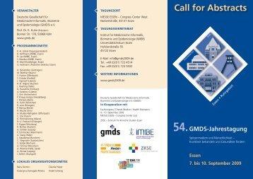 Broschüre 4 - Institut für Medizinische Informatik, Biometrie und ...