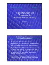 13 VL WS 0607 Therapieforschung