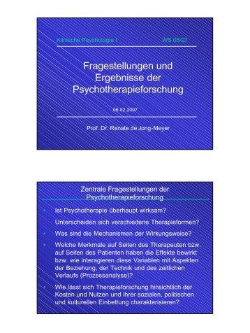 13 VL WS 0607 Therapieforschung