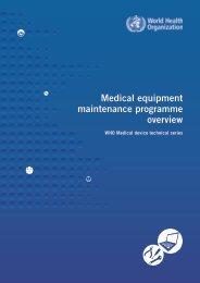 Medical Equipment Maintenance Programme Overview