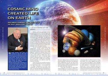 CosmiC mind Created life on earth