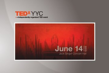 Download the TEDxYYC 2013 Sponsorship Package now!