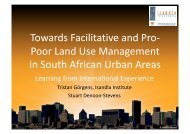 Poor Land Use Management in South African ... - Urban LandMark