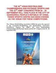 the 46th asian bodybuilding championships and physique ... - ABBF