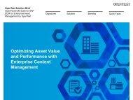 ECM for Enterprise Asset Management - OpenText