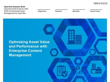 ECM for Enterprise Asset Management - OpenText