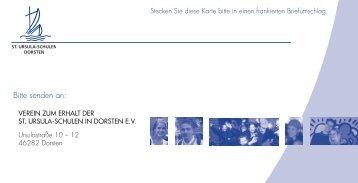 Beitrittsformular (als pdf-Datei) - Gymnasium St. Ursula Dorsten