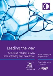 View publication - Chartered Institute of Housing