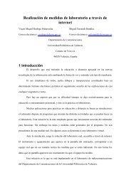 Realización de medidas de laboratorio a través de ... - Virtual Educa