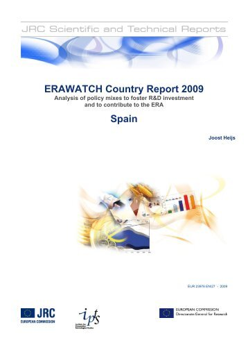 erawatch country report 2009: spain. analysis of policy ... - Madri+d