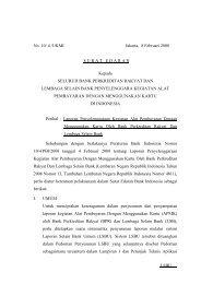 Laporan Penyelenggaraan Kegiatan Alat ... - Bank Indonesia